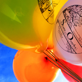 Imagine your logo printed on these colorful balloons!