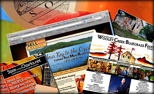 StateoftheOzarks Media Products: Websites, Rack Cards, Flyers, Balloons & More!