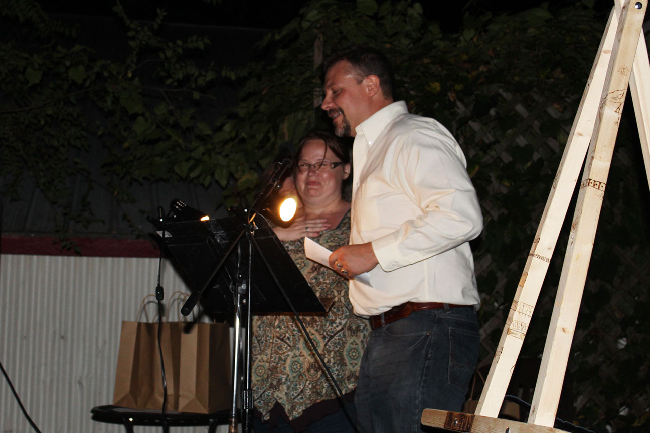Lisa Ray and Joshua Heston