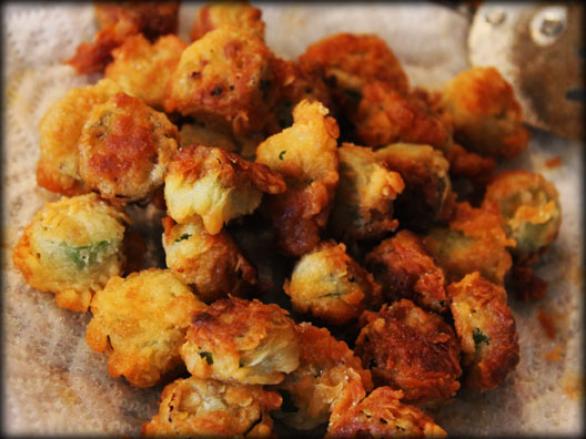 Fried okra finished