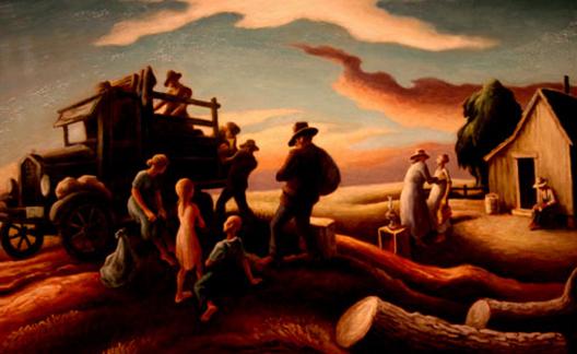 Departure of the Joads, Thomas Hart Benton